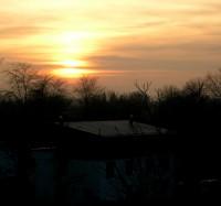 Diakonissenhaus Bethlehem, Karlsruhe  -- Sonnenuntergang im Westen