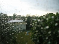 Diakonissenhaus Bethlehem, Karlsruhe  -- Sturm und Regen